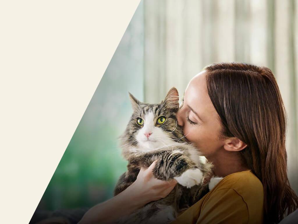 Purina Pro Plan Live Clear Frau mit Katze